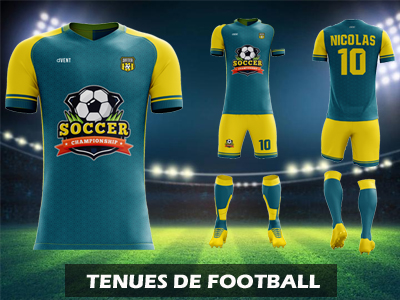 catalogue tenues de football